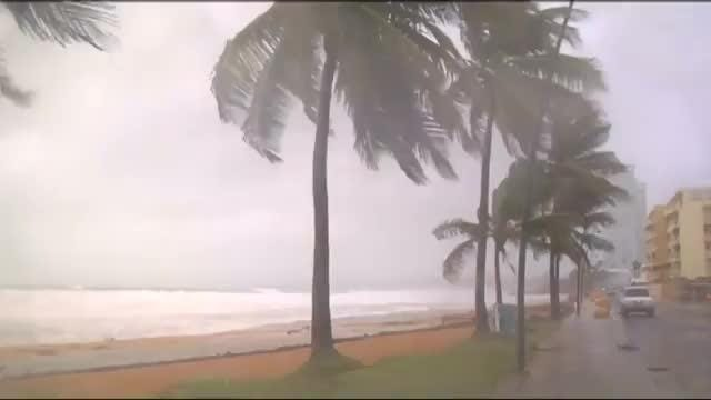 Hurricane Irma clobbered Puerto Rico with rain on Wednesday as residents heeded the governor's warning to stay inside as the storm bore down on the island. Video provided by Reuters