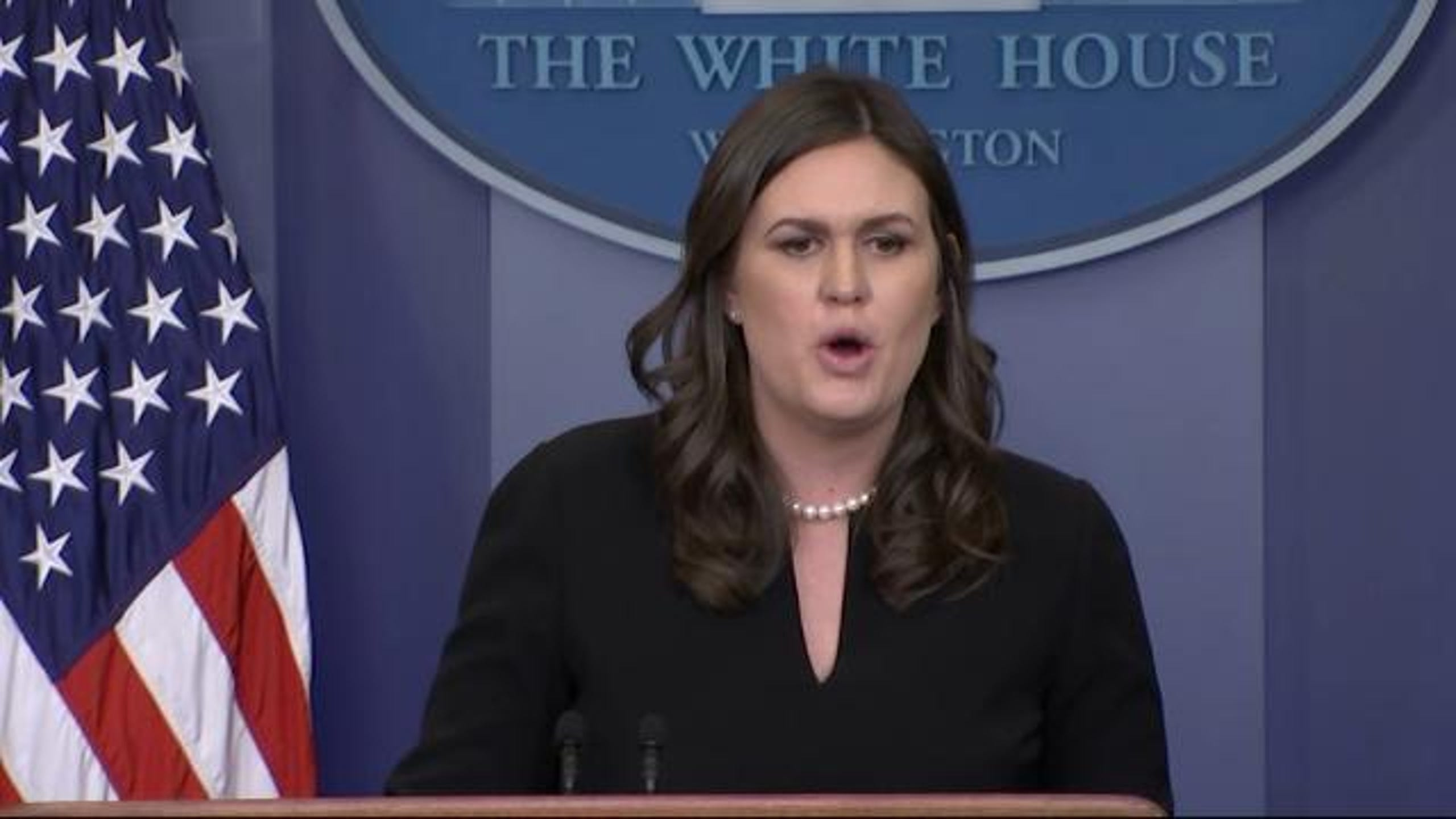 "White House Spokesperson Sarah Huckabee Sanders flatly denied that President Donald Trump's tweet about NY Senator Kirsten Gillibrand was in any way sexist, insisting only people with their minds ""in the gutter"" would have read it that way. (Dec. 12)"