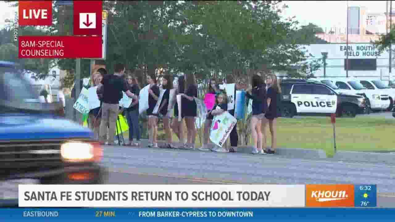 Red Flag Gun Laws A Non Starter For Texas Lieutenant Governor Motor Control Cypress Santa Fe Students Return To School After Shooting