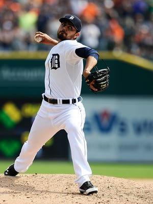 Joakim Soria came to the Tigers in a trade for prospects Corey Knebel and Jake Thompson.