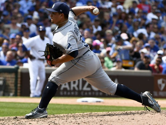 Erasmo Ramirez, acquired by Seattle via trade on Friday,