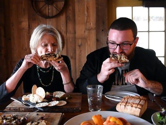 Northjersey.com food writer Esther Davidowitz, left,