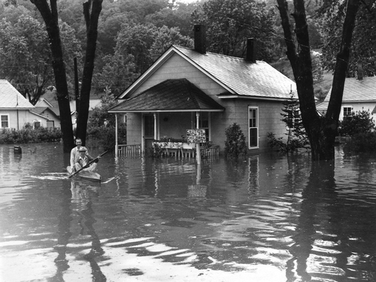From the archives: Near Candler and the Pigeon River.