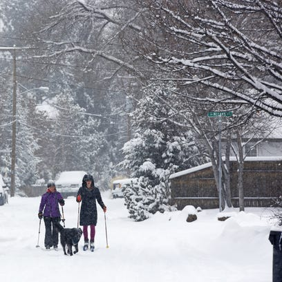 It's coming. A winter storm that dropped significant