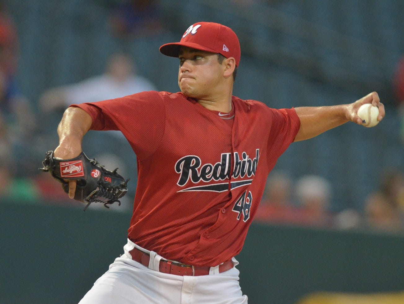 Former Rocky Mountain HS pitcher Marco Gonzales, shown in a game with the Memphis Redbirds.
