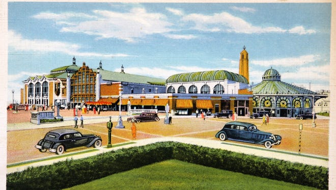 A postcard of the Casino building in Asbury Park from the 1930s.
