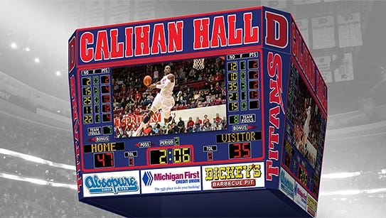 This is a rendering of the video board that will be installed at Calihan Hall.