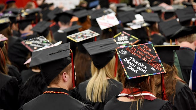 Commencement ceremonies at East Stroudsburg University on Saturday, May 5, 2018.