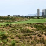View of the golf course on Tuesday for the Rio 2016 Olympic games.
