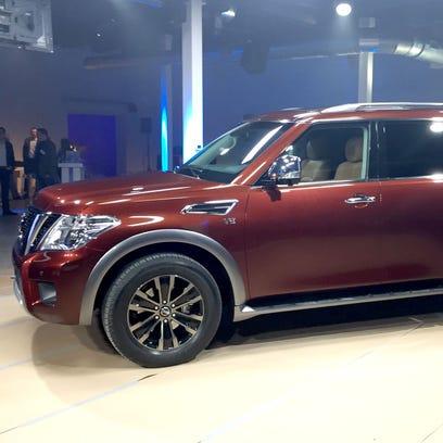 Nissan revealed its 2017 Armada eight passenger SUV