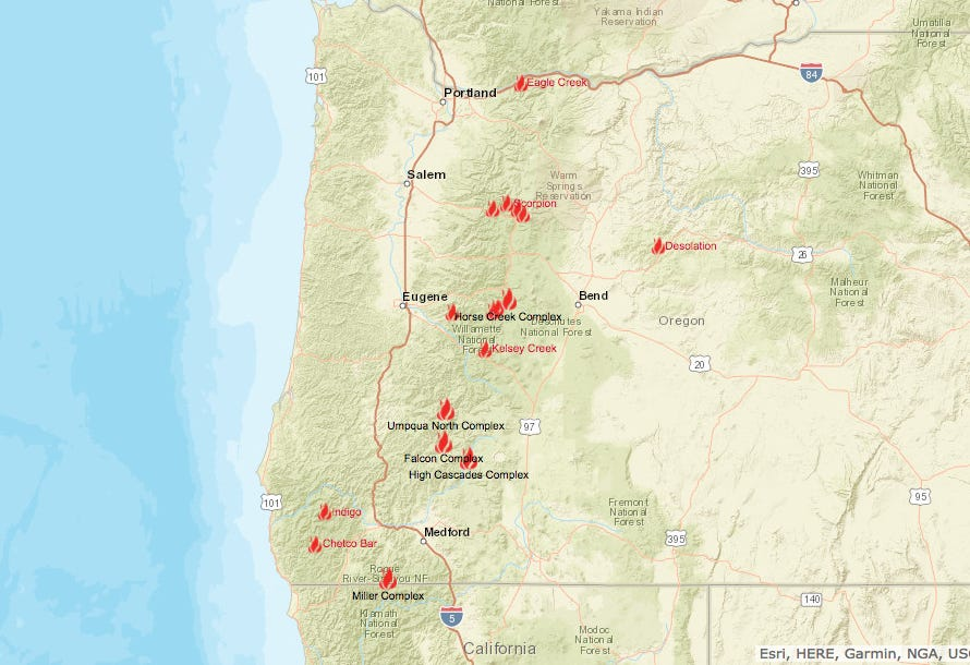 Oregon wildfires burned these areas Heres how they were damaged