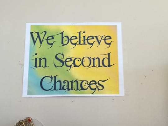 This sign at Second Chances thrift store says it all.