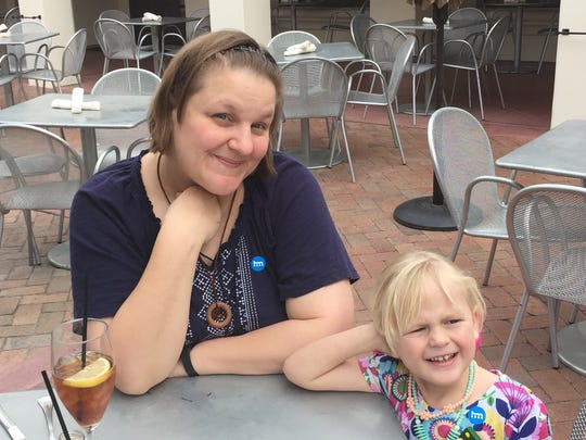 Michelle Ellashek, 43, Phoenix, environmental health and safety specialist with her daughter Izzy Renckly, 3.
