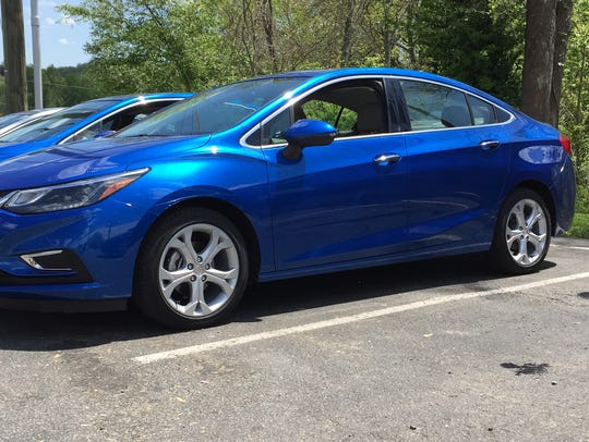 The 2016 Chevrolet Cruze is 2.7 inches longer, but