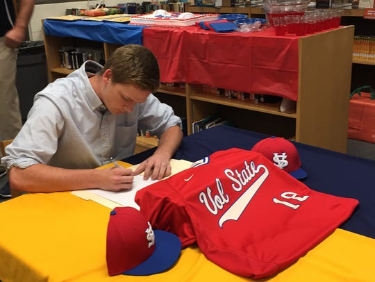 Northeast's Collin Loose signs his letter of intent