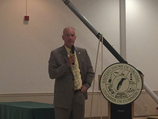 Del. Rob Bloxom speaks at the Eastern Shore of Virginia