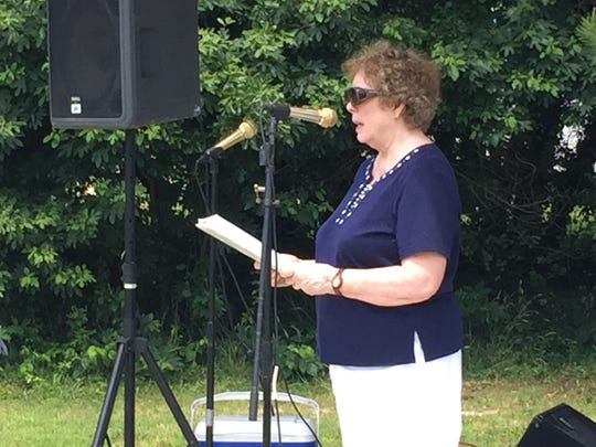 Dawn Goldstine speaks during the 19th annual Juneteenth