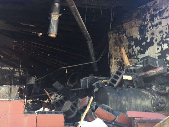 Fire destroyed Gamba's Auto in Endicott.