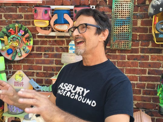 Joe Harvard talks about his outdoor art museum gARTen at 713 Cookman Ave., Asbury Park on Aug. 24, 2018.