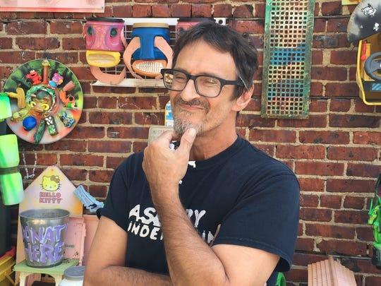 Joe Harvard in his former gARTen on Cookman Avenue in Asbury Park.