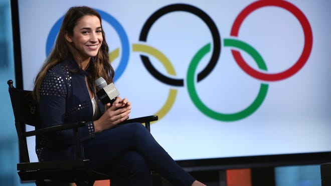 NEW YORK, NY - OCTOBER 24:  Olympic gymnast Aly Raisman speaks at The Build Series Presents Aly Raisman at AOL HQ on October 24, 2016 in New York City.  (Photo by Monica Schipper/WireImage) ORG XMIT: 677769077 ORIG FILE ID: 617788554