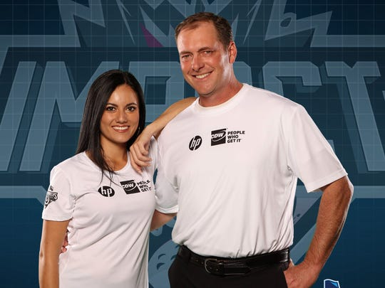 "Tommy Biershenks will be competing with his partner, Susana Benavides, in the Golf Channel competition ""Shotmakers."""