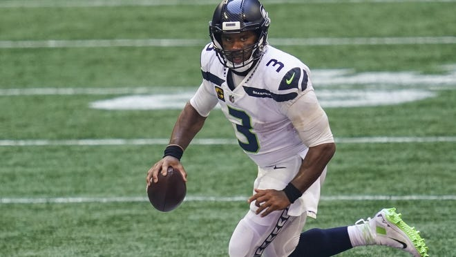 Seahawks quarterback Russell Wilson is always ready to run, so that's why the Patriots had cornerback Myles Bryant play Wilson's role during practice this week.