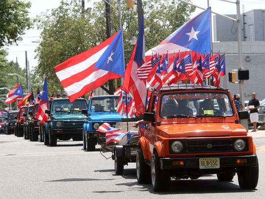 The Puerto Rican Festival of New Jersey parade will