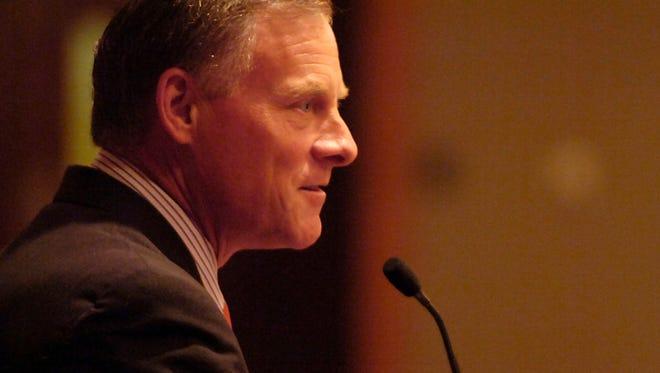 U.S. Sen. Richard Burr, R-N.C., speaks during a 2009 meeting in Asheville
