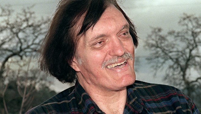 In this Jan. 18, 1999 photo, long-time resident and booster of Yosemite Lakes Park Richard Kiel talks about moving to the foothill community near Coarsegold, Calif., from Southern California for the benefit of his children. Kiel, the towering actor best known for portraying steel-toothed villain Jaws in a pair of James Bond films, has died. Kelley Sanchez, director of communications at Saint Agnes Medical Center, confirmed Wednesday, Sept. 10, 2014, that Kiel was a patient at the hospital and died. Kiel's agent, Steven Stevens, also confirmed his death. Both declined to provide further details. He was 74. (AP Photo/The Fresno Bee, Richard Darby)