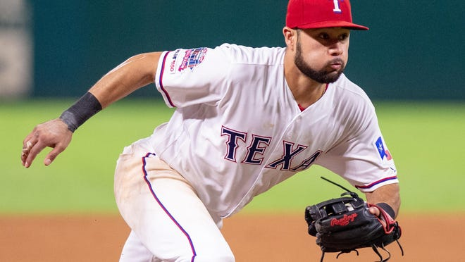Isiah Kiner-Falefa's good glove, improving bat and strong work ethic have put him in the running for the starting job at third base. Before spring training shut down, Kiner-Falefa had been the breakout star of the Rangers' camp.