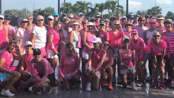 The Boulevard Tennis Club in Vero Beach hosted a Breast Cancer Awareness tennis tournament in October where more than $6,000 was raised for Friends After Diagnosis. The tournament drew 56 participants, who enjoyed tennis, lunch, raffle prizes and a silent auction. Friends After Diagnosis is a non-profit group that helps women deal with the complexities before, during and after any cancer diagnosis. Support groups for families and caregivers, sporting activities and weekly get-togethers are available to anyone through this agency.  All monies raised at the tournament stay in Indian River County.