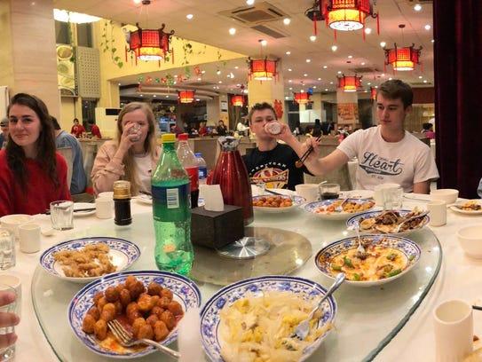 17 Sheboygan North-South High students visited China during spring break.