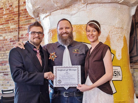 As in years past, Lakefront Brewery will offer free weddings on Valentine's Day.