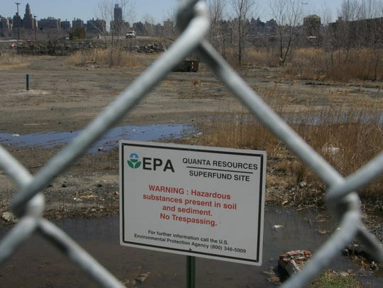 A view of the land portion of the Quanta Superfund