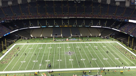 The Mercedes-Benz Superdome two hours prior to kickoff.