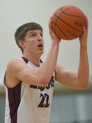 Madison's Aaron Fiegen attempts a free throw against