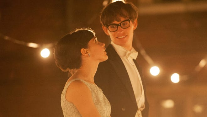 """Felicity Jones and Eddie Redmayne in a scene from """"The Theory of Everything."""""""
