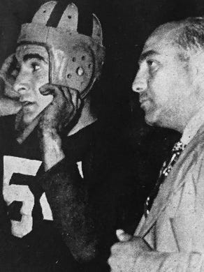 Asbury Park football coach William ``Butch'' Bruno (right) in an undated photo.