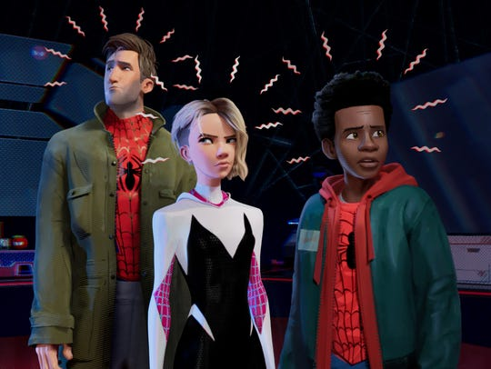 With Spider-senses buzzing, Peter Parker (Jake Johnson),