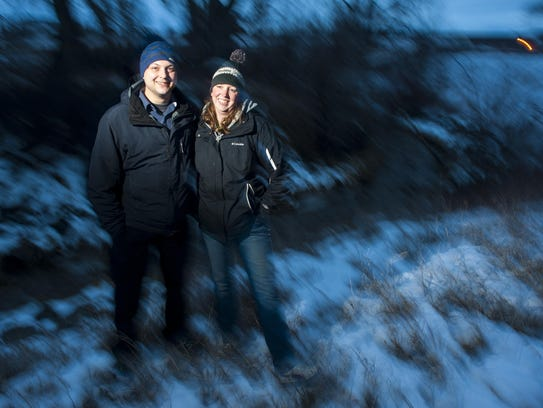 Tyson and Laura Hajek frequently ski and hike together.