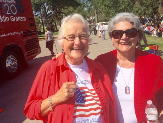 Betty Silvert, left and Mary Ann Hemp came from Kalispell