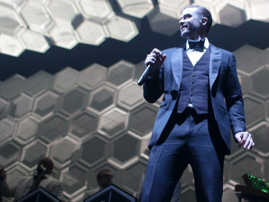 Justin Timberlake performs at Bankers Life Fieldhouse, Indianapolis, Wednesday, December 11, 2013.