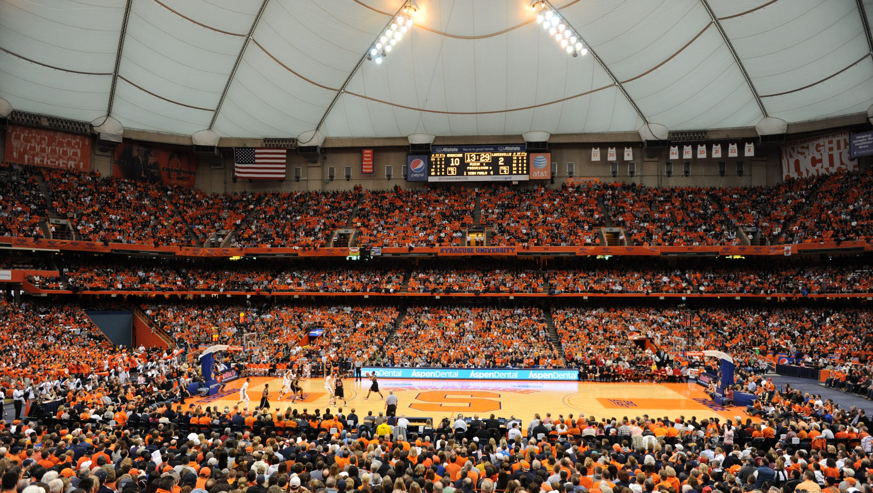 Syracuse to replace carrier dome 39 s inflatable roof for Plan and print syracuse