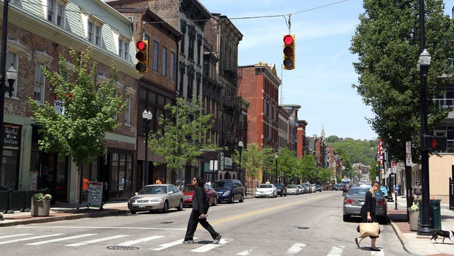 Vine Street, south of Liberty in the Gateway Quarter of Over-the-Rhine, has seen a tremendous amount of redevelopment.