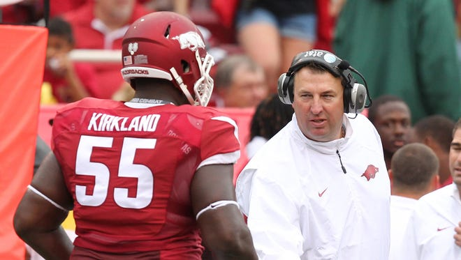 USA Today isn't a believer yet in Bret Bielema's Razorbacks, not including Arkansas in its bowl game predictions entering Week 3 of the season.