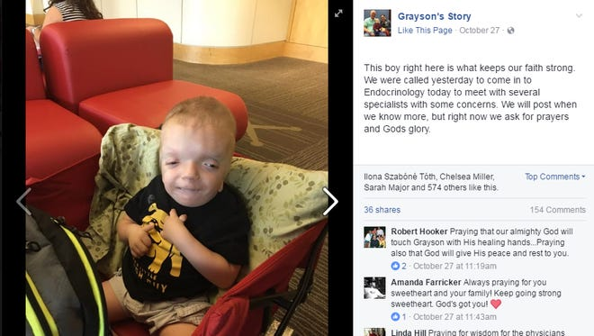 Terminally ill toddler Grayson Smith was turned into a cruel Internet meme.