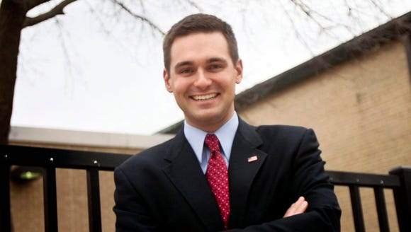 In this 2012 photo, Illinois Rep. Nick Sauer, R-Libertyville,