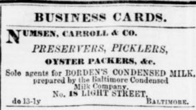 Advertisement in the <em>Baltimore Daily Commercial</em>, Dec. 13, 1865 (Library of Congress's Chronicling America website).