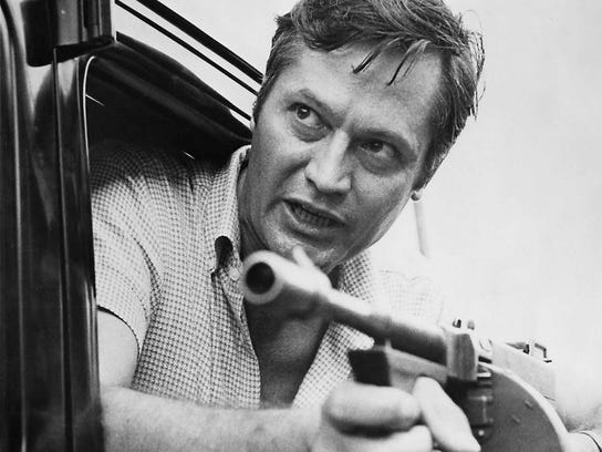 Director Roger Corman on the set of the 1970 gangster